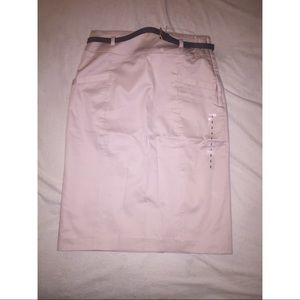 H&M light baby pink pencil skirt with belt US4 NWT